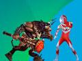 Transformed Ultraman - Com o seu estilingue mire e atire bolinha para o outro lado do cenário. Seu objetivo é arremessa-las para se transformar em um Ultraman e matar todos os monstros.