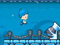 Turbo Kids - Participe de uma corrida em plataformas com crianças. Salte para não cair nos vãos seja ágil para passar seus oponentes e recolha as moedas.