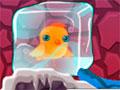 Unfreeze Me - Um monstro muito malvado congelou os bichinhos em sua caverna. Então ajude os passarinhos a escapar, mire seu canhão de água no alvo e comece a descongelar cada um.