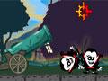 Vampire Cannon - Com seu canhão atire vampiros pelo cenário. Sua tarefa é contaminar o maior número de pessoas possíveis, só tenha cuidado para não atingir padres e matadores de vampiros.