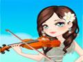 Violin Solo Girl - Ajude essa bela garota a se produzir para seu evento. Escolha modelitos para sua apresentação com solista, com toda a sua dedicação crie um visual que vai surpreender a plateia.