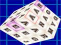 Word Dimensions - Crie palavras com letras de dentro do cubo. Podendo ser na vertical, horizontal e diagonal, quanto mais rápido for mais pontos marcará.