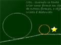 Desenhe formas geométricas para que a bola laranja consiga chegar até a estrela, use sua inteligencia para saber qual a melhor angulo para fazer o caminho da bola.