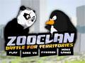 Zoo Clan, o Pingüim e o Uso do zoológico estão querendo tomar o território do outro, escolha o lado que você quer ajudar e jogue pedras no seu inimigo para que você consiga derrotá-lo para tomar posse do seu novo espaço.