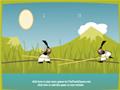 Lute com as formigas samurai e tente derrubar seu oponente na água antes que ele derrube você!