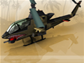 Pilote o helicóptero até a base e acabe com os inimigos que cruzam seu caminho até lá. Lembre-se de pegar os ítems que os inimigos derrotados deixam!