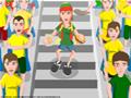Vista sua camisa do Brasil e tente descer pela arquibancada sem tropeçar em ninguém!