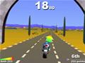Jogo de moto, com várias pistas. Tente passar nos checks points a tempo.