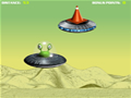 O Sr. Alien comprou há pouco um OVNI novo, e agora precisa aprender a voar nele. Acerte os cones durante o percurso, mais não bata nas naves.
